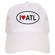 I Love ATL (Atlanta) Oval Baseball Cap