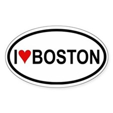 I Love Boston Oval Decal