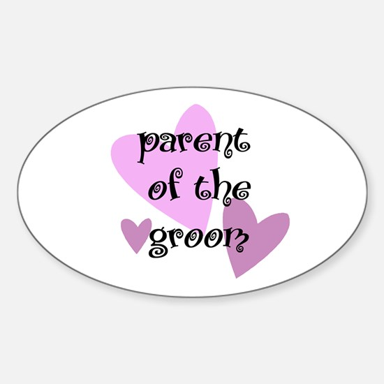 Parent of the Groom Oval Decal