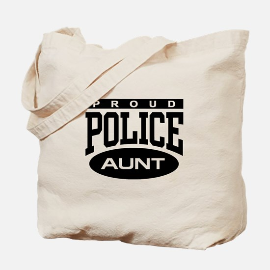 Proud Police Aunt Tote Bag