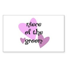 Niece of the Groom Rectangle Decal
