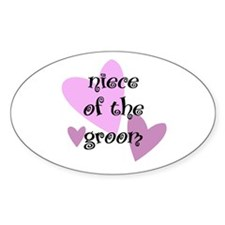 Niece of the Groom Oval Decal