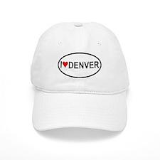 I Love Denver Oval Baseball Cap
