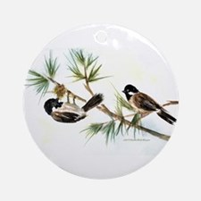 Two Chickadees Ornament (Round)
