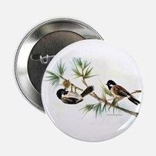 """Two Chickadees 2.25"""" Button"""