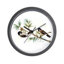 Two Chickadees Wall Clock