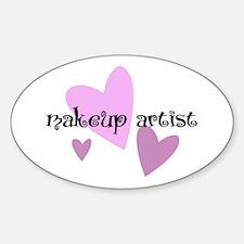 Makeup Artist Oval Decal