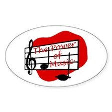 The Power Of Music Oval Decal