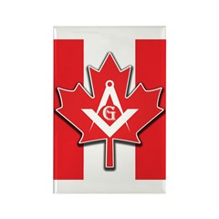 Masons Maple Leaf Rectangle Magnet (10 pack)