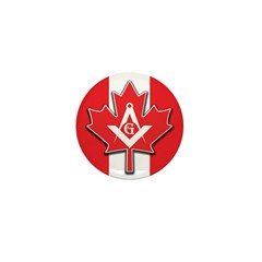 Masons Maple Leaf Mini Button (10 pack)
