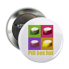 "Pill box hat 2.25"" Button (100 pack)"