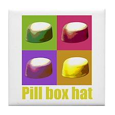 Pill box hat Tile Coaster