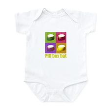 Pill box hat Infant Bodysuit