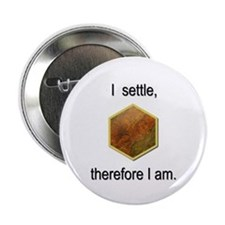 """""""I settle, therefore I am"""" Button"""