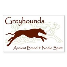 Celtic/Modern Greyhound Rectangle Decal