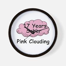 Pink Cloud 17 Wall Clock