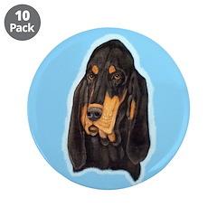 Black & Tan Coonhound Head St 3.5