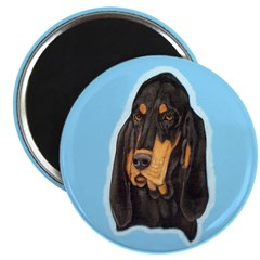 Black & Tan Coonhound Head St 2.25
