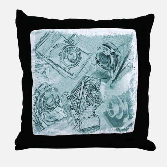 Throw Pillow - Classic antique cameras
