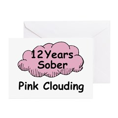 Pink Cloud 12 Greeting Cards (Pk of 10)