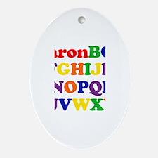 Aaron - Alphabet Oval Ornament
