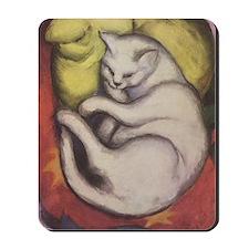 Sleeping Cat Painting - Mousepad