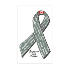 Military Support - Canada Rectangle Decal