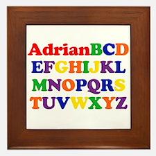 Adrian - Alphabet Framed Tile