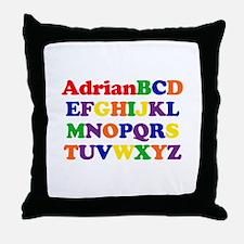 Adrian - Alphabet Throw Pillow