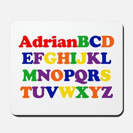 Adrian - Alphabet Mousepad