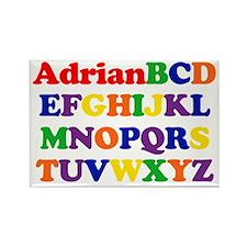 Adrian - Alphabet Rectangle Magnet