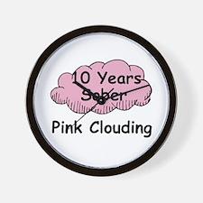 Pink Cloud 10 Wall Clock