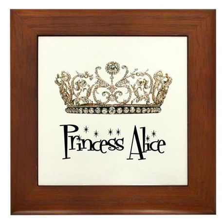 Princess Alice Framed Tile