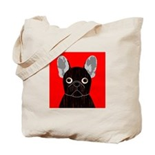 Frenchy (Dark Brindle) Tote Bag