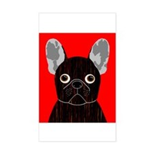 Frenchy (Dark Brindle) Rectangle Decal