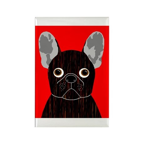 Frenchy (Dark Brindle) Rectangle Magnet (100 pack)