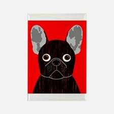 Frenchy (Dark Brindle) Rectangle Magnet