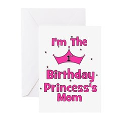 1st Birthday Princess's Mom! Greeting Cards (Pk of