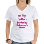 1st Birthday Princess's Mom! Women's V-Neck T-Shir
