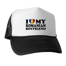 I Love My Romanian Boyfriend Trucker Hat