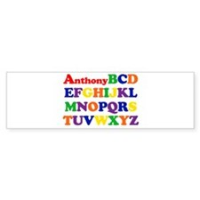 Anthony - Alphabet Bumper Bumper Bumper Sticker