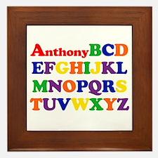 Anthony - Alphabet Framed Tile