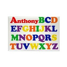 Anthony - Alphabet Rectangle Magnet