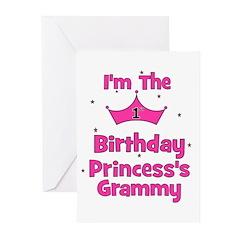 1st Birthday Princess's Gramm Greeting Cards (Pk o