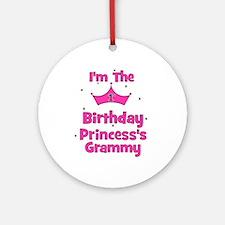 1st Birthday Princess's Gramm Ornament (Round)