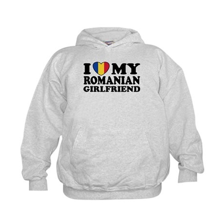 I Love My Romanian Girlfriend Kids Hoodie