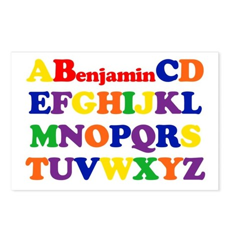 Benjamin - Alphabet Postcards (Package of 8)