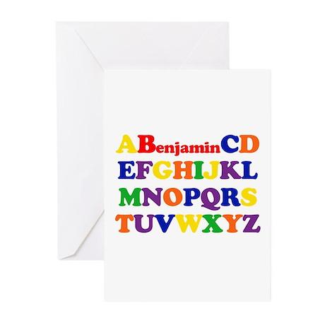 Benjamin - Alphabet Greeting Cards (Pk of 10)