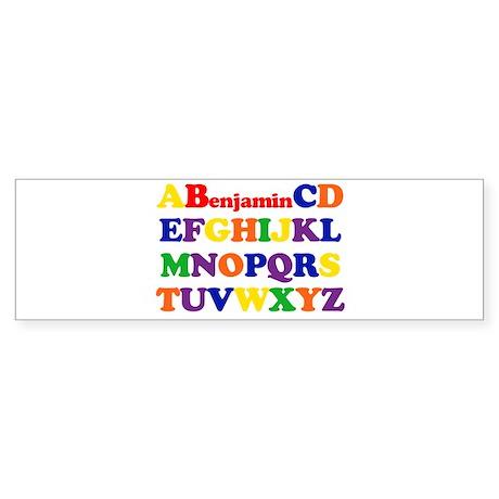 Benjamin - Alphabet Bumper Sticker