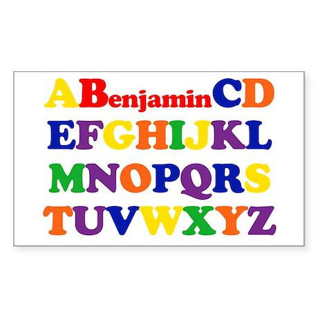 Benjamin - Alphabet Rectangle Sticker